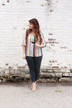 Load image into Gallery viewer, Lydia Striped V-Neck Blouse