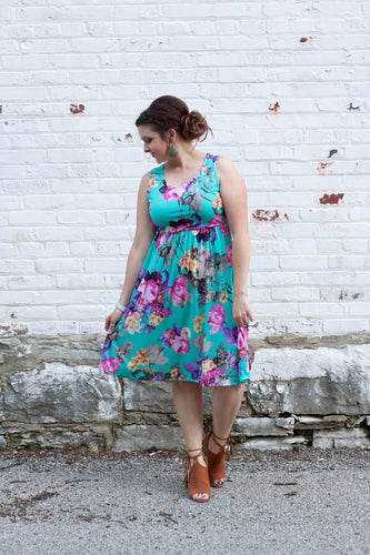Lucy Floral Sleeveless Dress