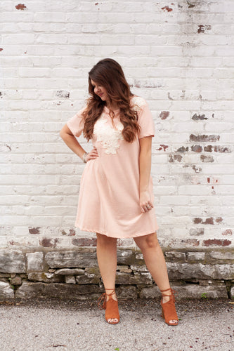 Rosalie Shift Dress with Lace