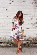 Load image into Gallery viewer, Charlotte Floral Dress in Off White