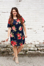 Load image into Gallery viewer, Genevieve Floral Scalloped Dress