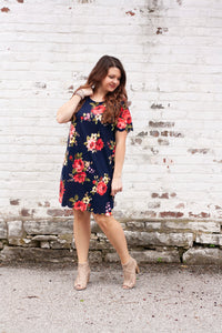 Genevieve Floral Scalloped Dress
