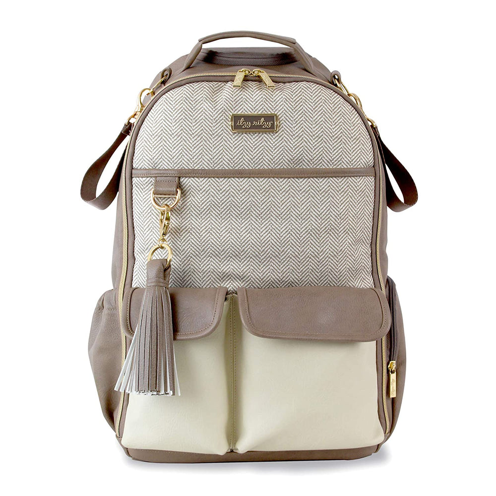 Vanilla Latte Boss Itzy Ritzy Diaper Bag Backback