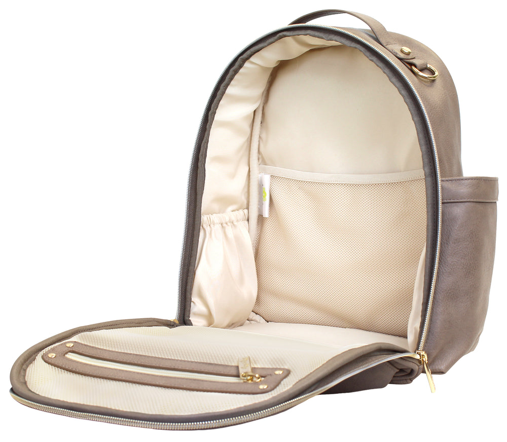 Itzy Ritzy Diaper Bag Backback - Taupe