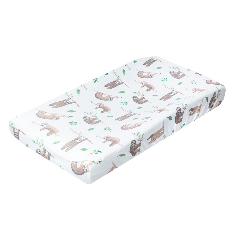 Copper Pearl Diaper Changing Pad Cover - Noah