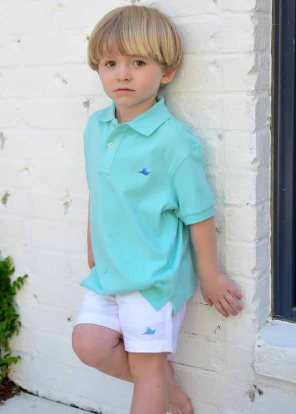 Southbound Boys White Pull on Shorts