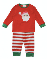 Honeydew Red Santa Applique Pajama Set