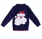 Honeydew Navy Santa Sweater