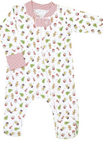 Magnolia Baby Cookies for Santa Printed Zipped Footie
