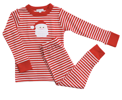 Magnolia Baby Applique Santa Long PJs