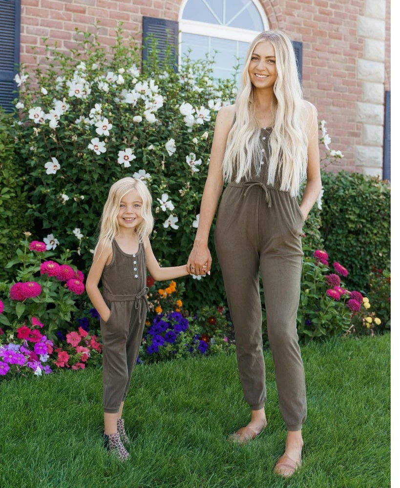 Bailey's Blossom Anika Mommy & Me Softy Jumpsuit - Hunter Green
