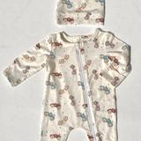 Charlie's Project Baby Bamboo Romper - Antique Cars