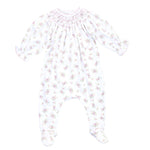 Magnolia Baby Printed Bishop Sleeve Smocked Footie Hope's Rose