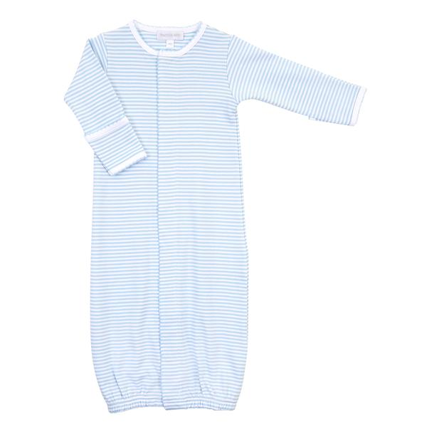 Magnolia Baby Mini Stripe Blue and White Gown
