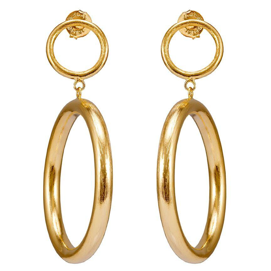 Shelia Fajl Double Loop Earrings