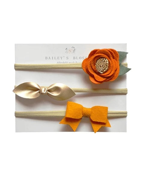 Bailey's Blossoms Clementine Headband Variety pack