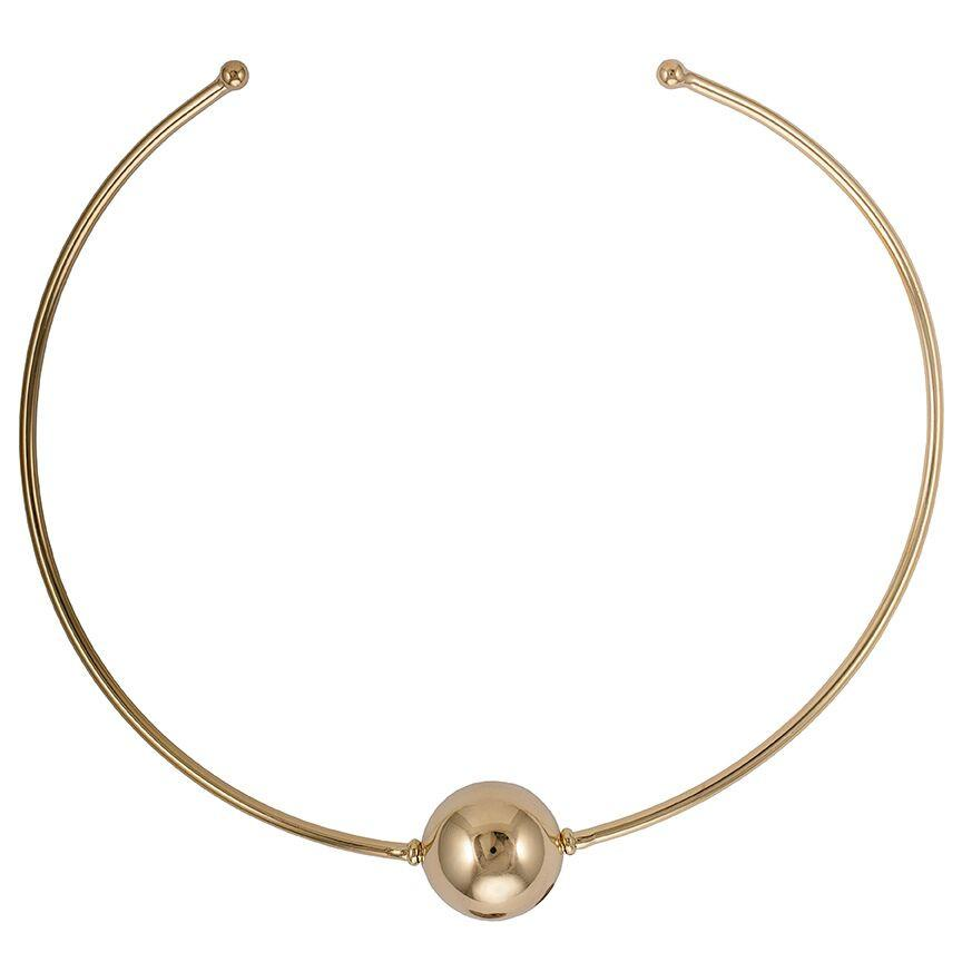 Shelia Fajl Large Sphere Collar Necklace