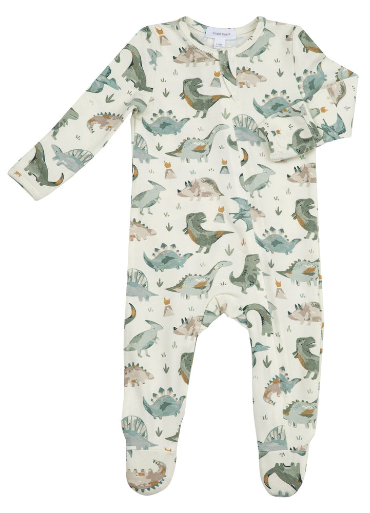 Angel Dear Dinosaur Zipper Footie