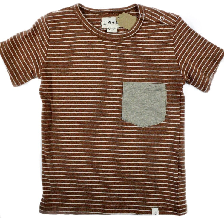 Me & Henry Brown Pocket T-Shirt