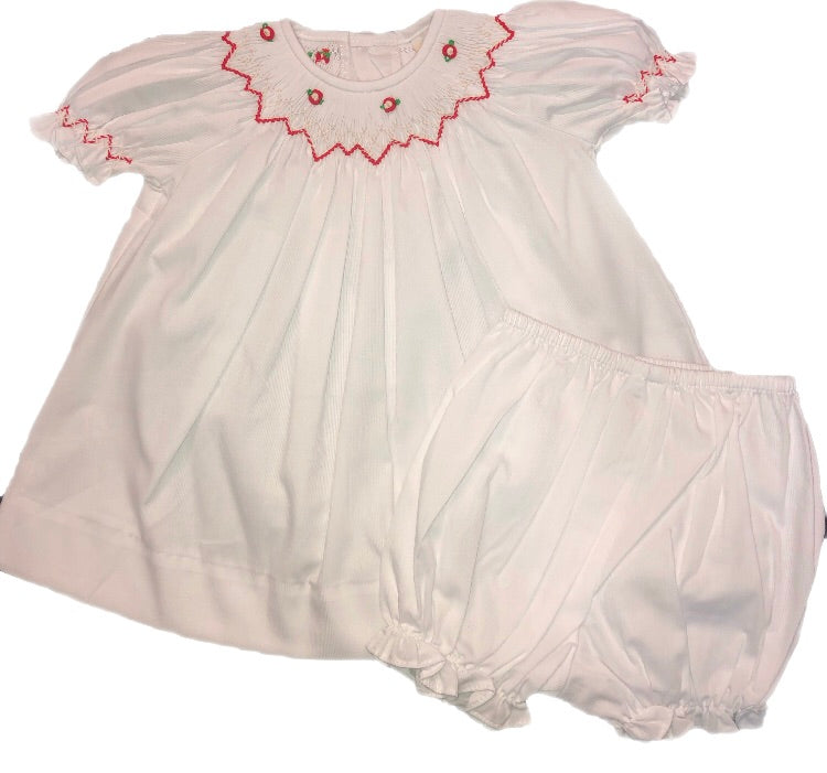 Remember Nguyen White Wynn Girl Dress With Bloomers
