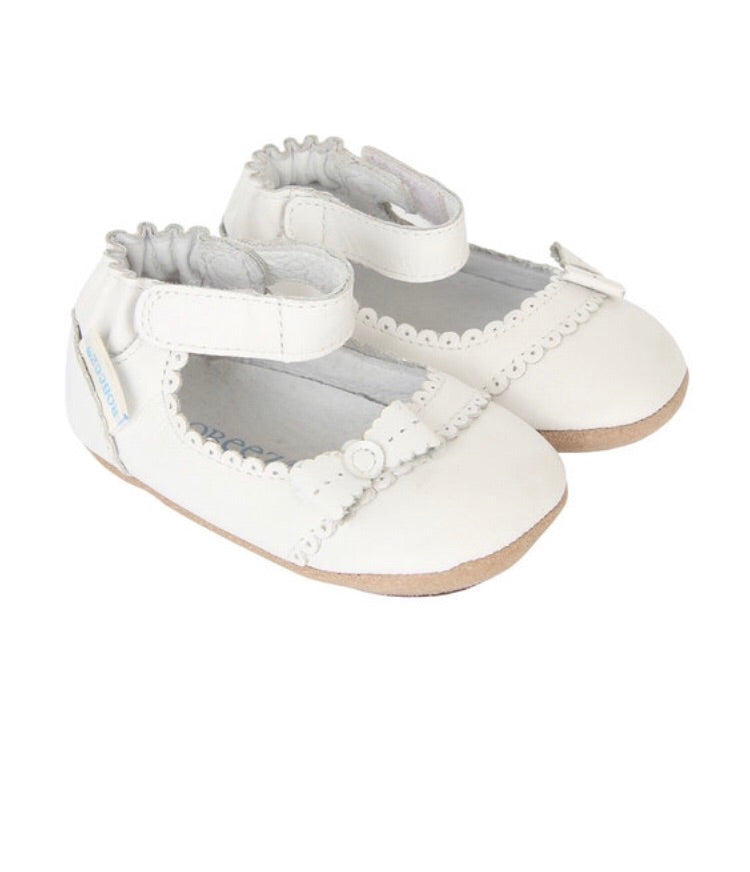 Robeez Catherine White Mini Shoe