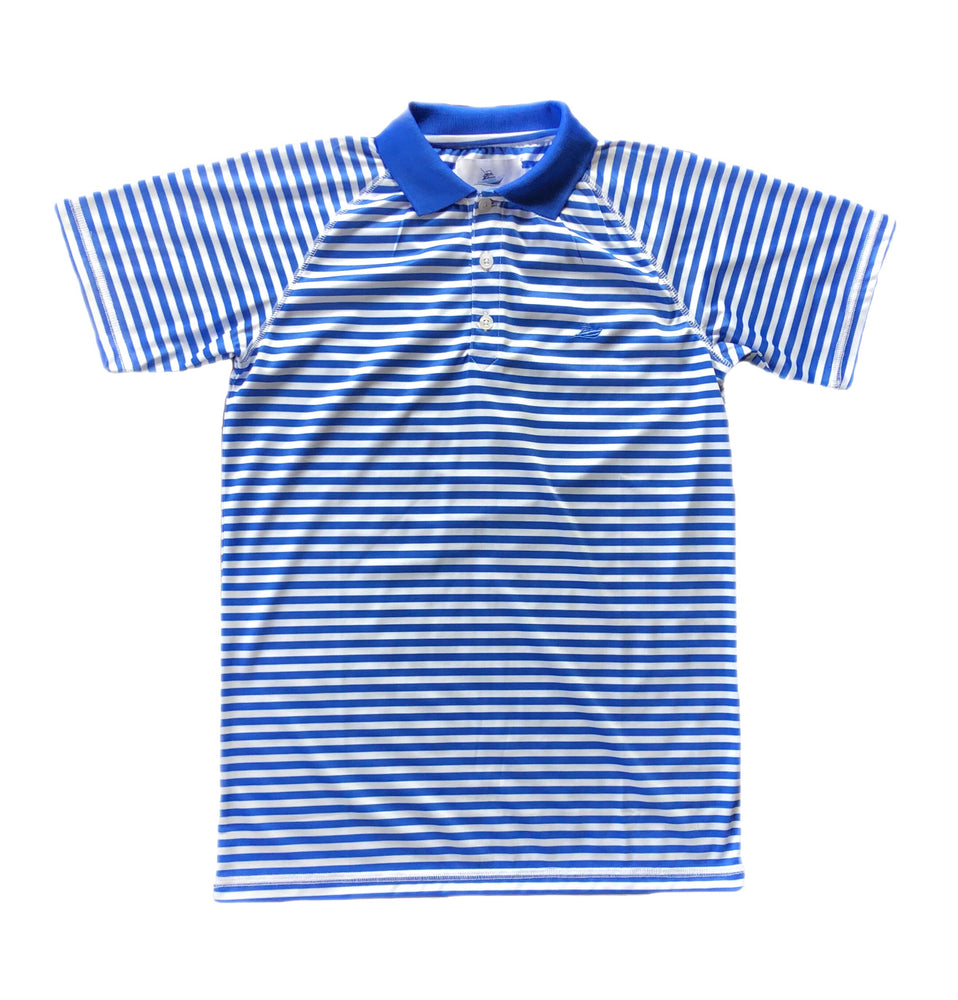 Southbound Royal Blue Striped Polo Shirt