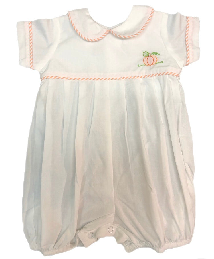 Remember Nguyen White Pumpkin Boy Romper