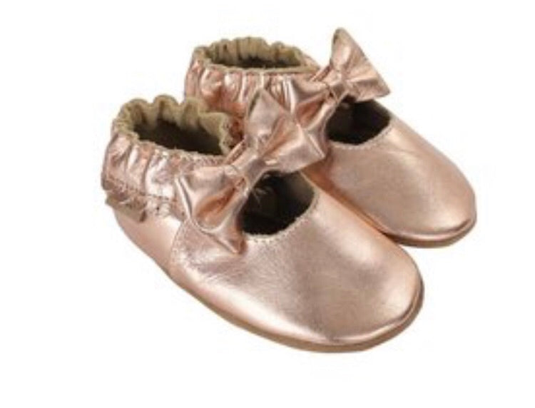 Robeez Rosie Moccasin Rose Gold