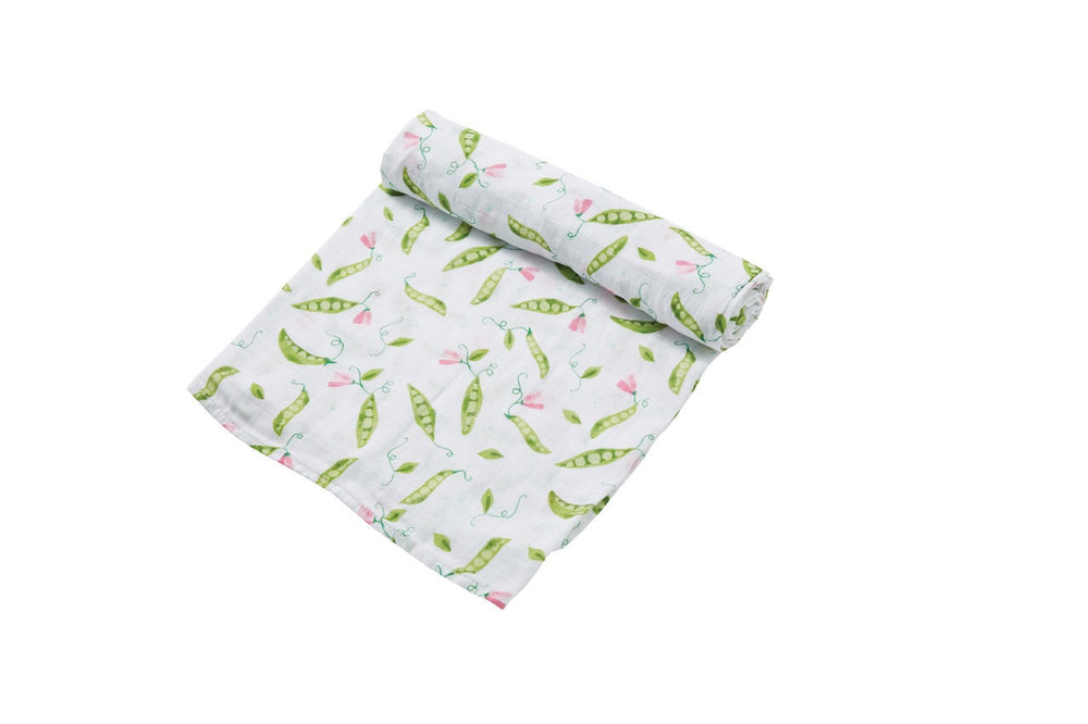Angel Dear Bamboo Peas Swaddle Blanket