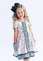 Charlie's Project Rose Gingham Ruffle Hugs Collection Dress