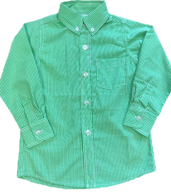 Remember Nguyen Green/White Plaid Button Up Shirt