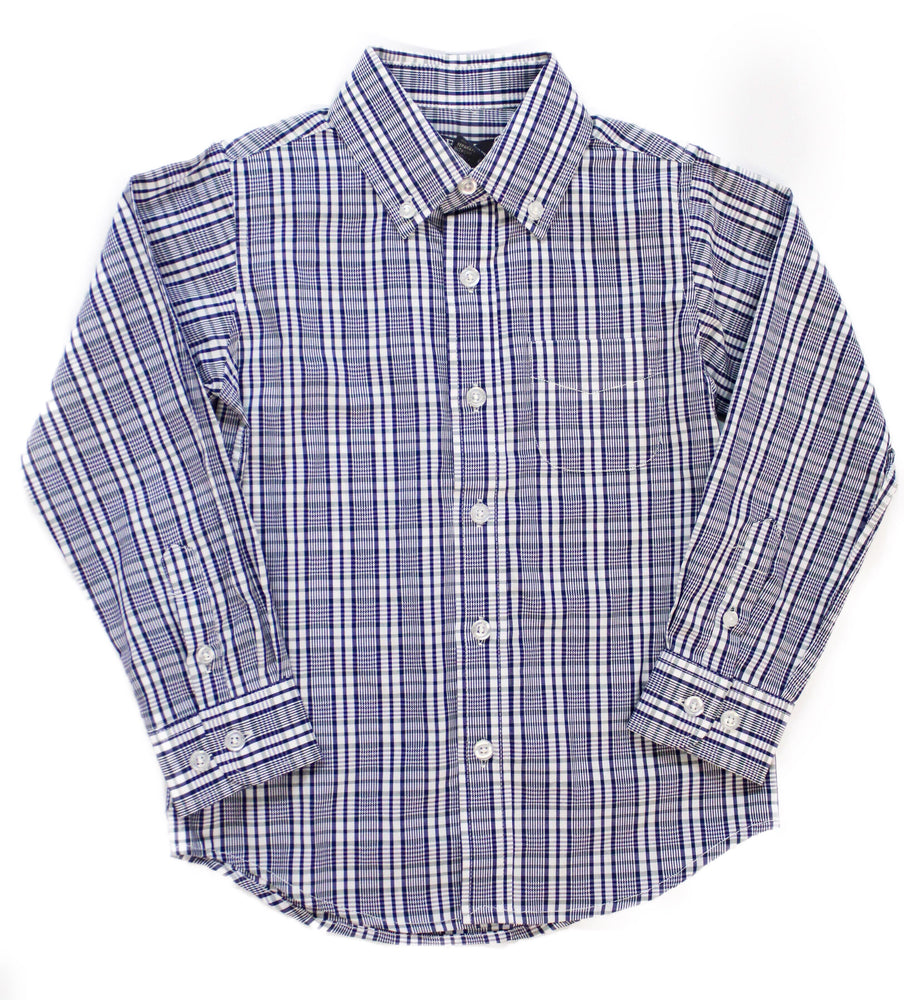 E.L.K. Navy Plaid Button Down Shirt