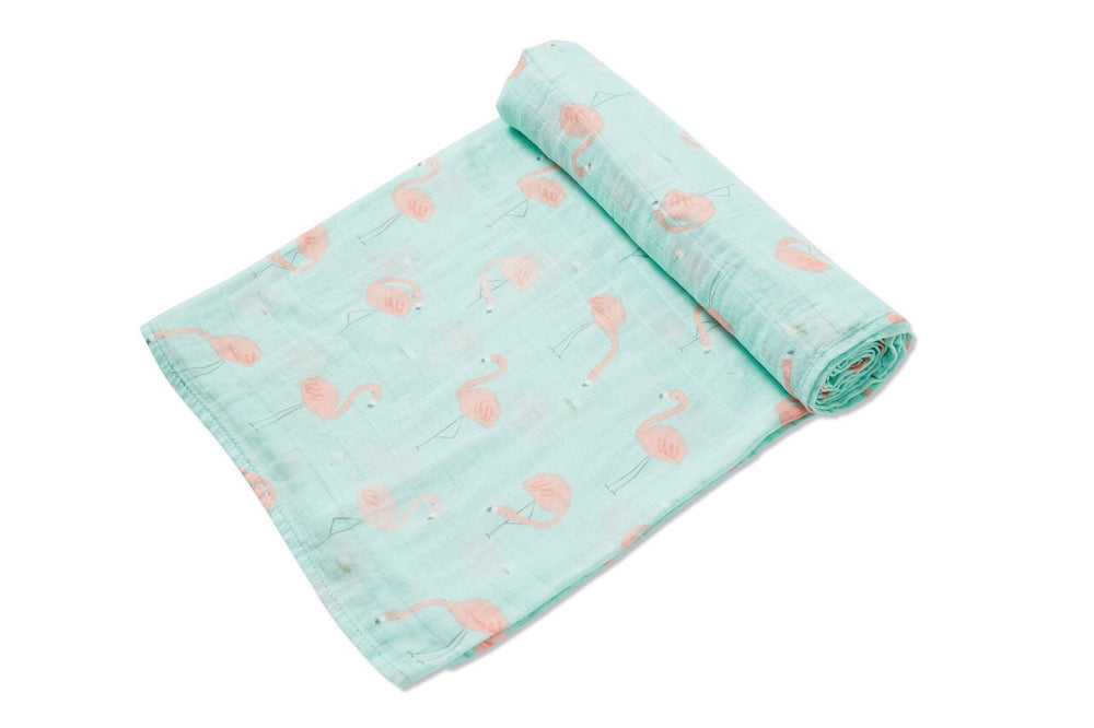 Angel Dear Bamboo Flamingo Swaddle Blanket