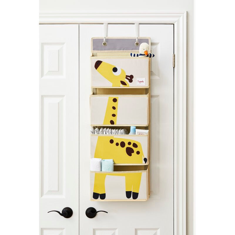 3 Sprouts Giraffe Hanging Wall Organizer