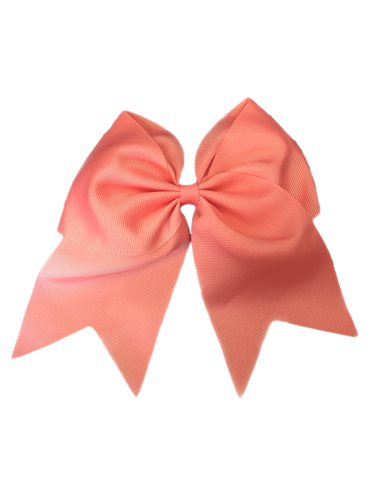 Bows & Headbands Coral Cheer Ponytail Bow