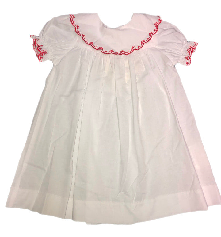 Love Me! White Dress with Red Lace
