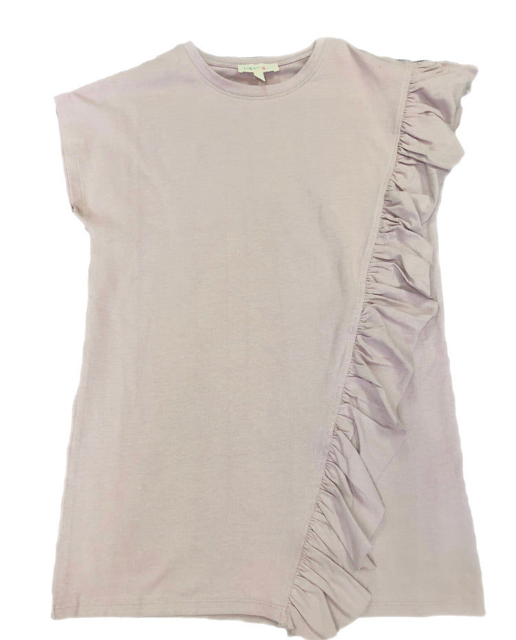 Paperflower Asymmetrical Ruffle Tunic