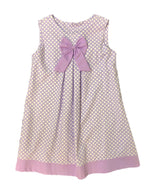 Mom and Me  Lavender Polka Dot Dress with Bow
