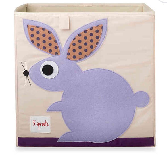 3 Sprouts Storage Box Blue - Bunny
