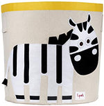 3 Sprouts Canvas Storage Bin - Zebra