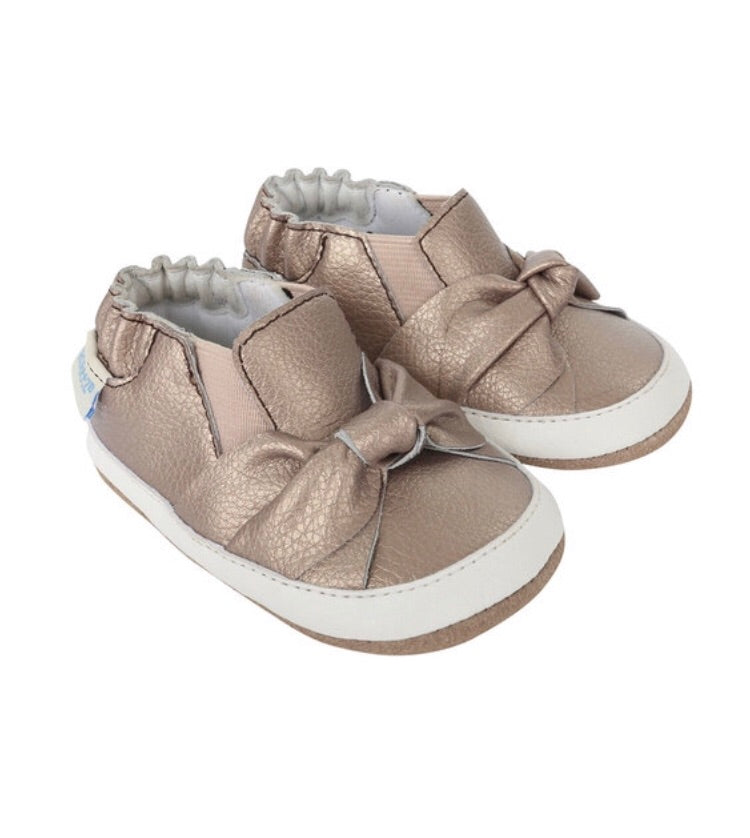 Robeez Bella's Bow Baby Shoes Mini Shoes