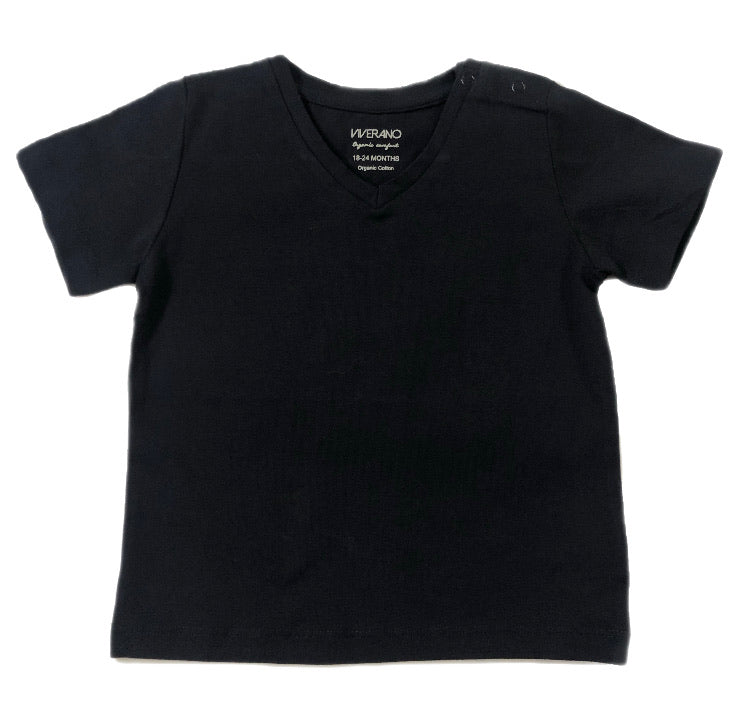 Viverano Navy V Neck Shirt