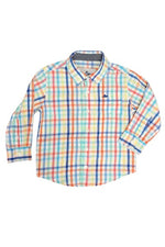 Southbound Boy Multi Colored Plaid Button Up Shirt