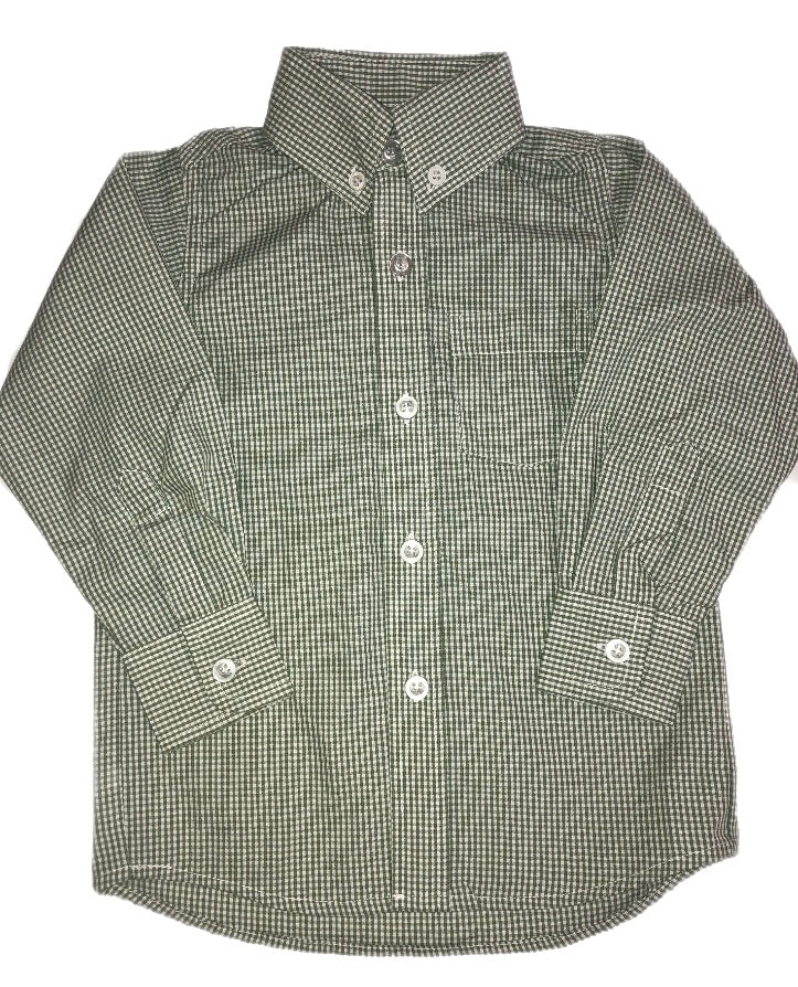 Remember Nguyen Hunter Green Brother Long Sleeve Button Up Shirt