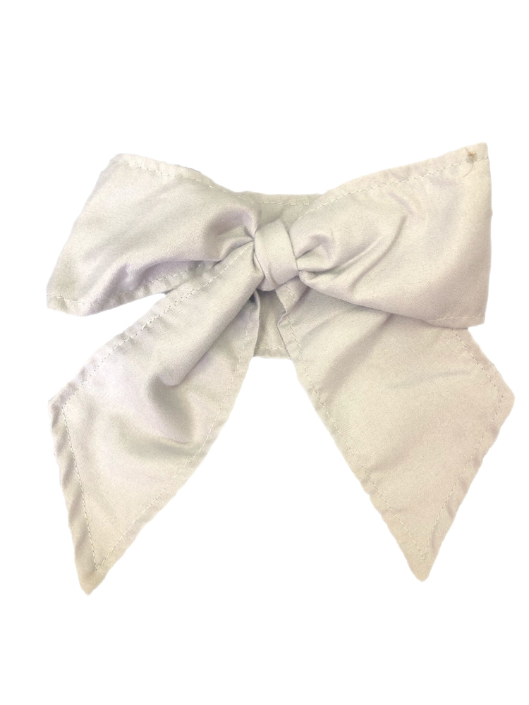 Bows & Headbands Grey Headband Tie Bow
