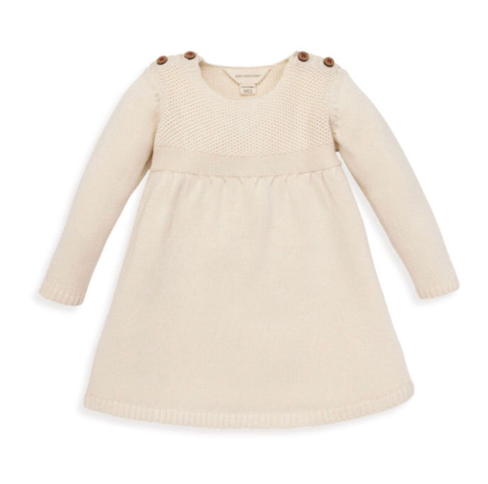 Burt's Bees Cream Color Organic Baby Gown