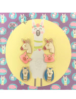 Jane Marie Unicorn, Pig, Llama Stud Earring Set