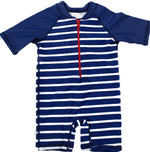 Rugged Butts Navy Stripe one piece Rash Guard