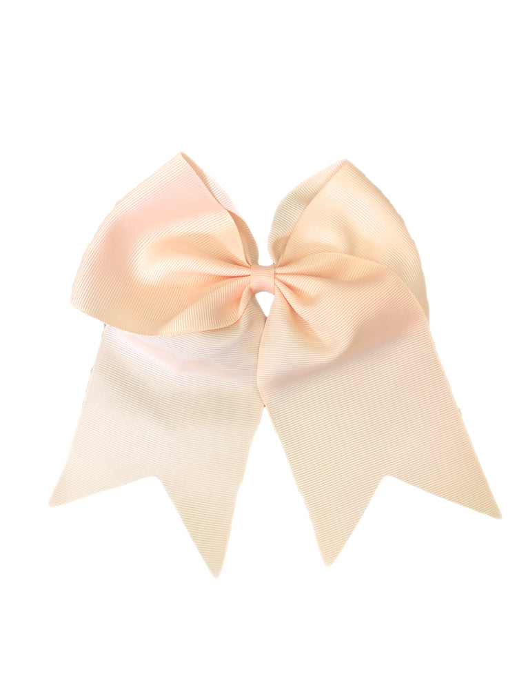 Bows & Headbands Peach Cheer Ponytail Bow