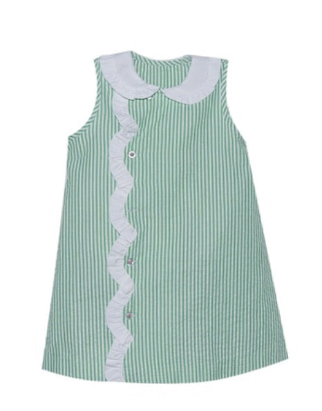 Remember Nguyen Green Pinstripe Angel Dress